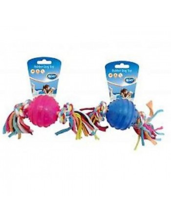 Duvo Plus TPR Ball with TPR Rope, 5cm