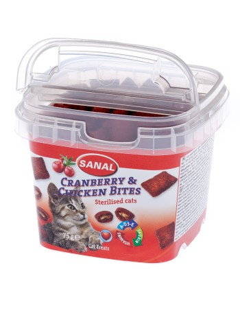 SANAL Cranberry & Chicken Bits Sterilized Cats